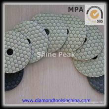 Flexible Diamond Dry Polishing Pads of Marble Granite Stone