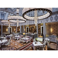 Guangzhou Stoff gepolstert Hotel Esszimmerstuhl Möbel (FOHCF-0077)