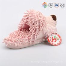 Material super suave al por mayor peluches de felpa / felpa zapatillas de animales para las mujeres