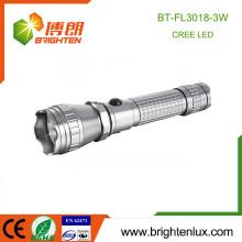 Vente en vrac en vrac 3.7V Matériau multifonctionnel en alliage d'aluminium Tactique haute puissance Rechargeable 3w cree q3 / q5 led Lampe de poche