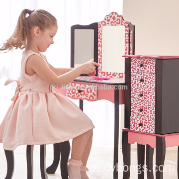 Beautiful girls dresser cabinet vanity dressing table mirror with drawer