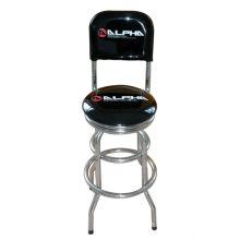 unique iron bar stool with backrest