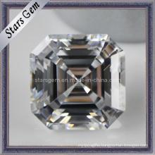 Asscher Cut Cubic Zirconia Gemstone Loose Stone