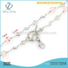 Top design 316l stainless steel necklace for women,types of silver chains