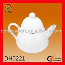 Usine directe en gros 475CC pot de thé en porcelaine blanche