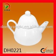Factory direct wholesale 475CC white porcelain tea pot