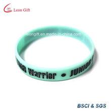 Couleur de remplissage Logo Silicone bracelet pour cadeau promotionnel