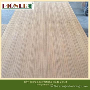 Contreplaqué de teck de taille différente de 1220 * 2440mm pour la décoration et les meubles
