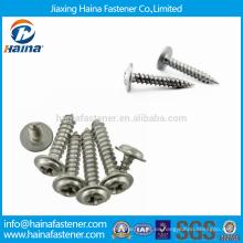Stock DIN968 Tornillo de cabeza redonda empotrable redondo con tornillos de acero inoxidable con cuello