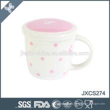Cerâmica chaozhou caneca new fine bone china caneca de café com tampa, copo e canecas, caneca estilo frence