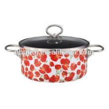 Enamel casserole enamel cookware flower pot stock pot  Enamel casserole enamel cookware flower pot stock pot