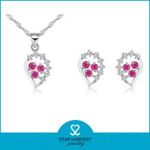 Fancy Two Color Stone Jewelry Set (J-0058)