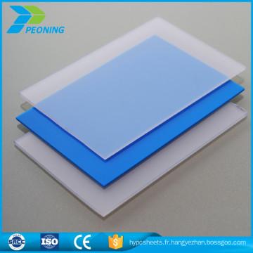 100% vierge bayer matière première lexan 18 mm solide polycarbonate flexible panneau de toit translucide