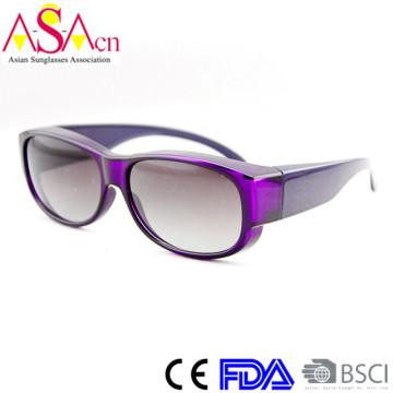 Cheap Sale Designer Fashion Polarized PC Fit Over Sunglasses (14186)