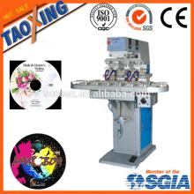 4 цветной тамповой печатной машины / печатной машины для печати на верхней поверхности для колпачков / пластиковых / стеклянных бутылок