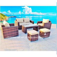 Новый дизайн Современный сад из ротанга / плетеной диван
