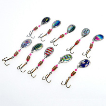 Fishing Lure Hard Spinner Baits Metal Spoon Lure Bass Tackle Treble Hooks High Quality
