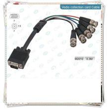 NOUVEAU PREMIUM BLACK VGA TO 5BNC CABLE CONVERTISSEUR COURT Câble de moniteur haut de gamme, HD15M - 5xBNC