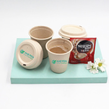 Amazon Hot Sale Factory Wholesale Food Grade Sugarcane Bagasse Coffee Travel Mug Cups With Lid
