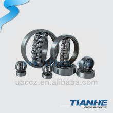 126 self-aligning textile machinery ball bearings with bearing steel cage