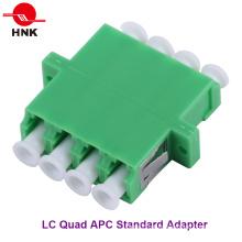 LC Quad Singlemode APC Padrão Fibra Óptica Adaptador Plástico