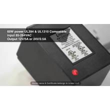 Fuente de alimentación enchufable CA CC certificada por UL1310
