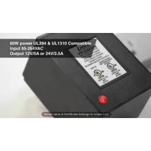 UL1310 Certified AC DC Plug In Power Supply