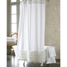 Rideaux de douche en polyester blanc