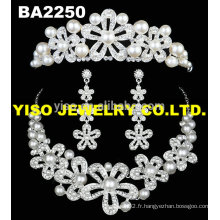 Ensemble de bijoux en cristal de perles