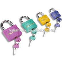 Factory direct sale popular plastic covered padlock