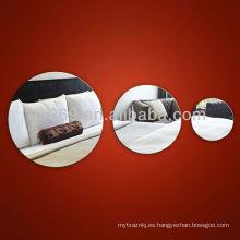 espejo acrílico ovalado para decoración de la pared