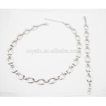 316L aço inoxidável liga cadeia bracelete e conjunto de jóias colar