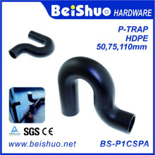 Plastic HDPE P-Trap Sewage Fittings