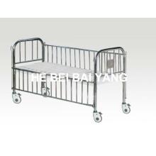 Cama infantil com cabeça de cama de aço inoxidável e trilho lateral