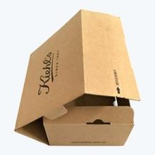 Cajas plegables de papel marrón corrugado