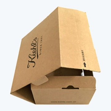 Foldable corrugated brown paper boxes