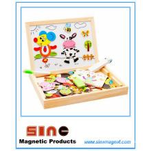 Jouets magnétiques de planche à dessin en bois magnétique