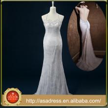 RASA-31 2015 Vestido de boda nupcial de Crepe del cuello de la nueva llegada Vestido de boda nupcial atractivo de Tulle de la novia Vestido para el banquete de boda