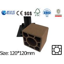 120X120 WPC Post con SGS CE ISO Fsc WPC Valla de plástico de madera compuesto de plástico de madera de posta de jardín valla Lhma032A
