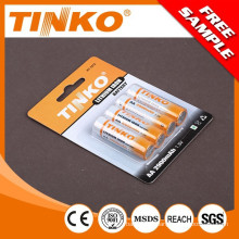 1.5V lithium battery with high capacity and OEM welcomed AA 2900mah and AAA 1200mah