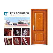 Puerta acorazada de madera clásica Styl con color marrón
