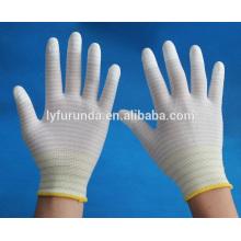 U3 ESD luvas de trabalho revestidas com PU top dedos
