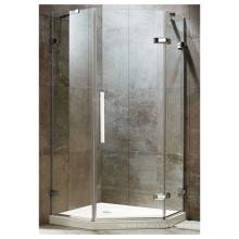 Custom Luxury Hotel Corner glass hinge doors shower enclosure cabin