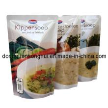Saco de retorta de plástico / saco de embalagem de retorta para alimentos