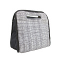 Fashion Sense Black Cross Lines Printing Cooler Carrier