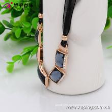 (necklace-00030) Collar de joyas de diamantes de imitación enchapado en oro de moda en aleación de cobre