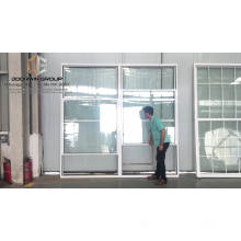 Single hung window sliding window with thermal break aluminum and white color