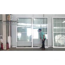 Одностворчатое раздвижное окно с терморазрывом из алюминия и белого цвета