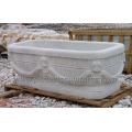 Bañera clásica antigua del cuarto de baño con el granito de mármol de piedra (QBN066)