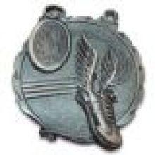 Medalla personalizada de fundición 3D con acabado de níquel antiguo